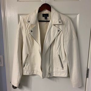 Women's  Forever 21 Leather Jacket Off White
